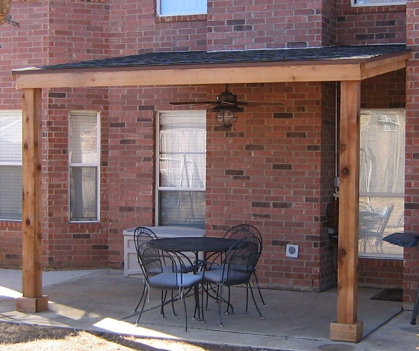 Attached Shingled Patio Cover Base Model No Trims