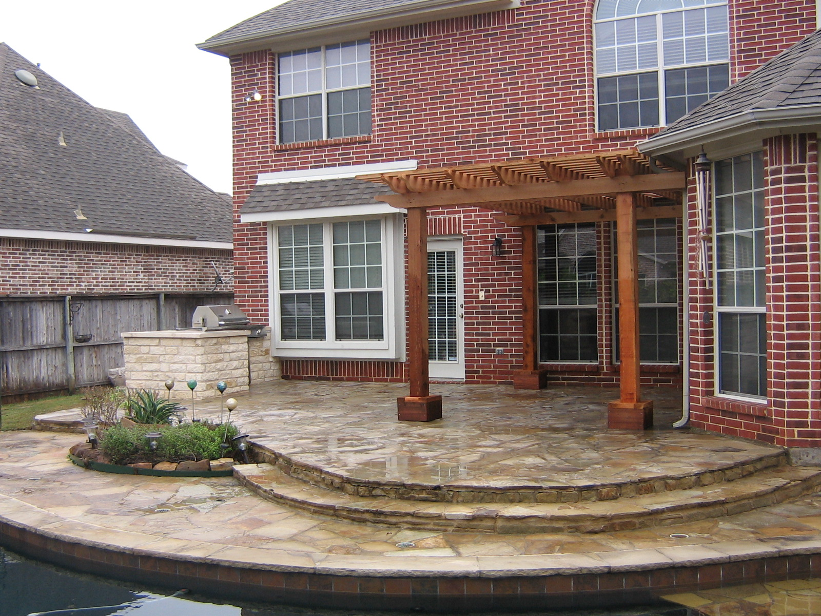 Cedar arbor home and lawn transformers for Redwood patio cover