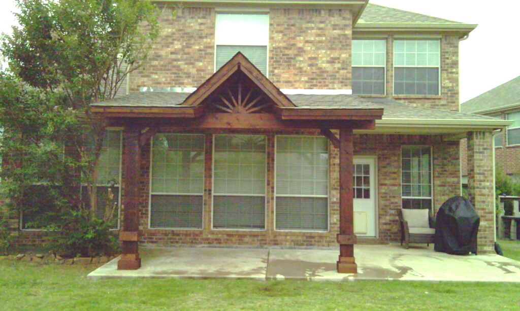 Cedar Gable Patio Cover