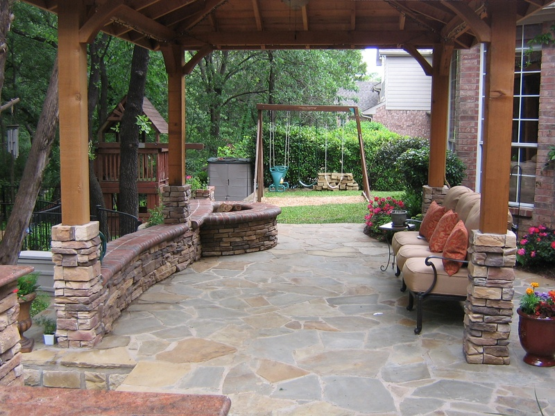 Full view of Built-In Firepit
