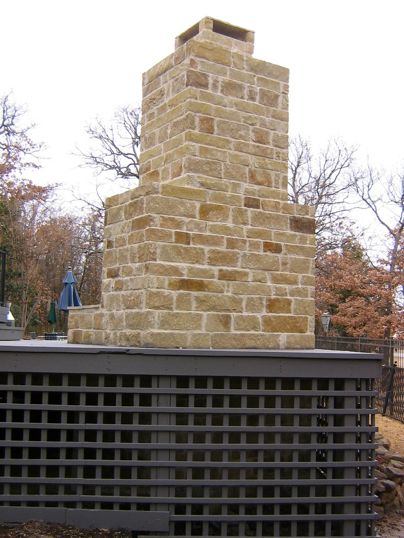 Outdoor Gas Fireplace (Backside)