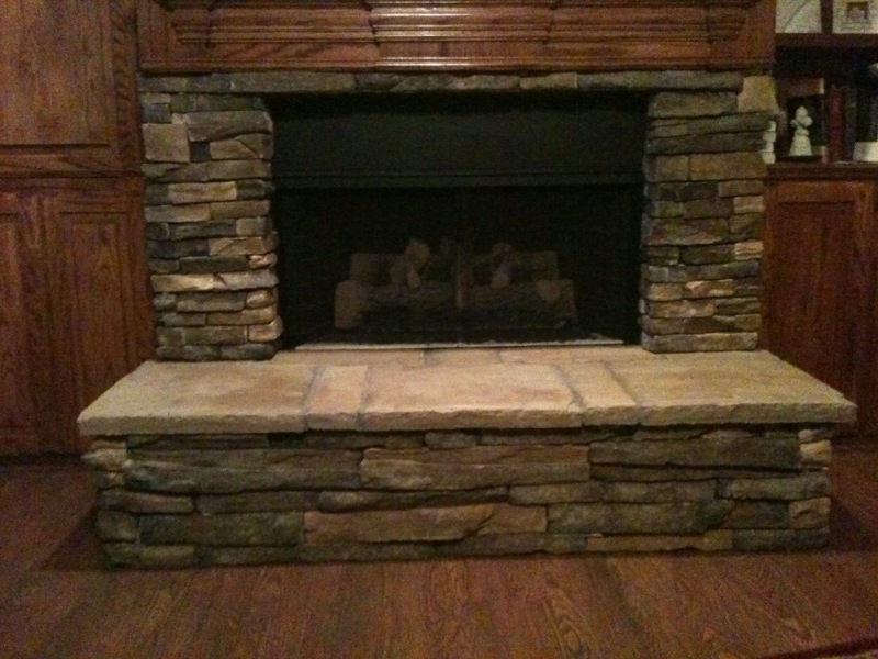 Stone Veneer Fireplace Home Design