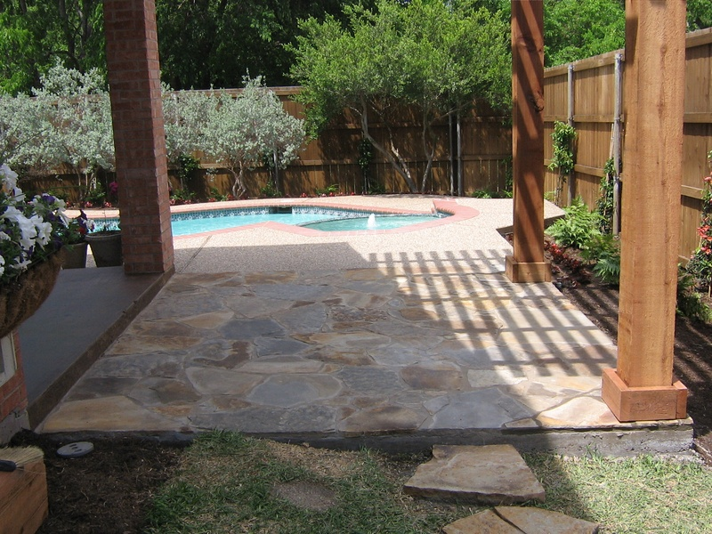 Flagstone Pool Deck Extension