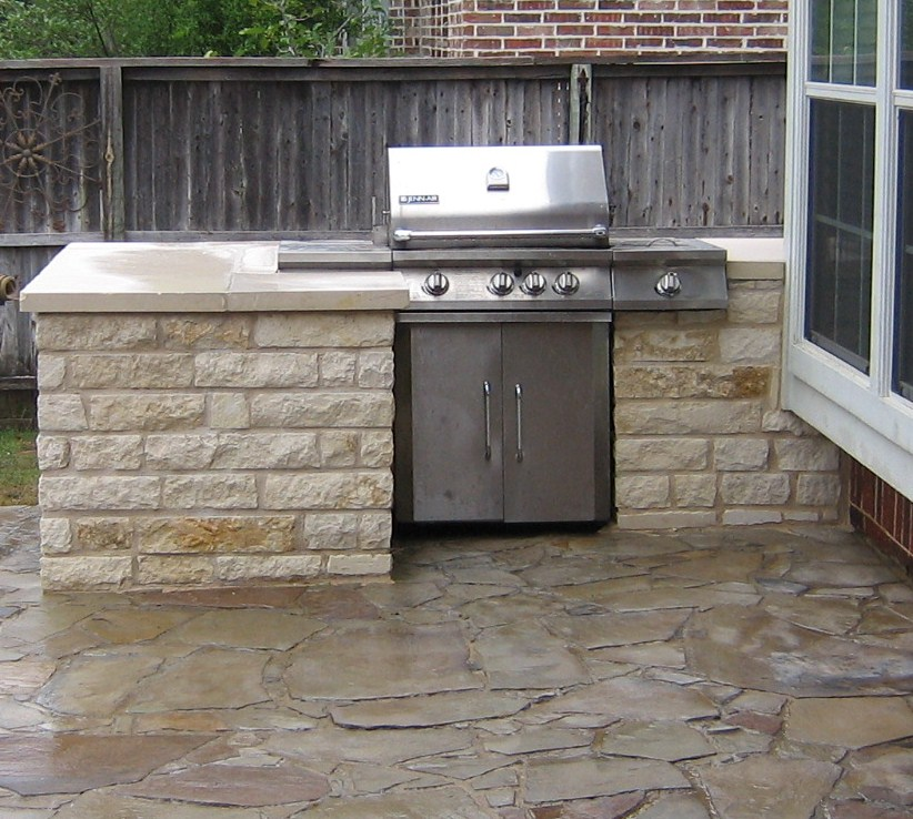 Stand alone grill built into counter area natural gas for Gasgrill fur outdoor kuche