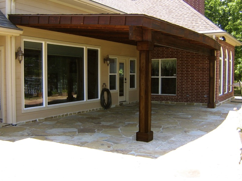 Cedar Patio Cover Left Side View Home And Lawn